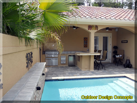 NEW POOL DESIGNS WITH OUTDOOR KITCHEN